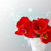 Postcard with elegant flowers tulips — Foto de Stock