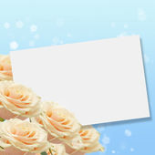 Postcard with elegant roses — Stock Photo