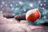 装饰圣诞明信片 — 图库照片