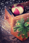 Decorative christmas composition — Stock Photo
