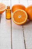 Essential aroma oil with orange — Stock fotografie