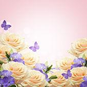 Pohlednice s květinami — Stock fotografie