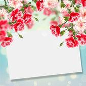 Cartolina con fiori — Foto Stock