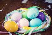Easter decorated eggs — Stock Photo
