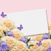 Carte postale avec des fleurs — Photo