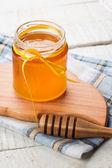 新鲜蜂蜜 — 图库照片