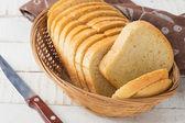 切片的一条面包 — 图库照片