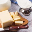 Stock Photo: Dairy products - butter, sour cream, milk