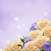Postcard with elegant  flowers and empty  place for your text — Stockfoto