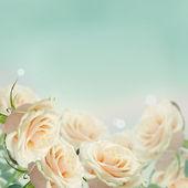 Postcard with elegant  flowers — Stock Photo