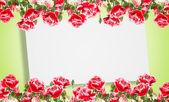 Ansichtkaart met elegante bloemen — Stockfoto