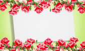 Postal com flores elegantes — Foto Stock