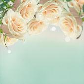 Vykort med eleganta blommor — Stockfoto