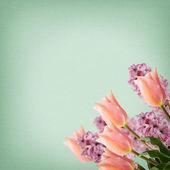 Pocztówka z eleganckimi kwiatami — Zdjęcie stockowe