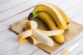 Bananas on towel — Stock Photo