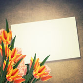 Postcard with flowers — Stock Photo