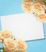 Postcard with elegant roses — 图库照片