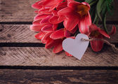 Postcard with spring flowers — Stok fotoğraf