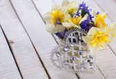 Daffodils and hyacinths — Stockfoto