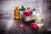 Handmade soap and aroma oil — Zdjęcie stockowe