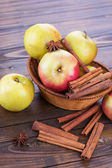 Apples and spices — Stock Photo