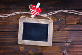 Empty blackboard — Stock Photo