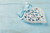 Decorative white heart — Stock Photo