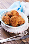 Cutlets on plate — Stock Photo