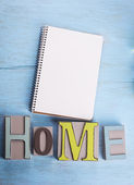 Note and word home — Stock Photo