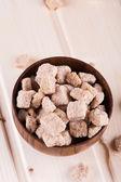 Kahverengi şeker cubes — Stok fotoğraf