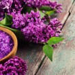 Sea salt with lilac — Stockfoto #51028981