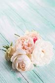 Postcard with roses — Zdjęcie stockowe