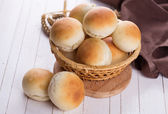 Fresh homemade buns — Stock Photo