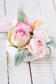 открытка с живыми цветами — Стоковое фото