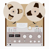 Retro tape recorder — Stock Vector
