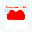 Stock Vector: St valentines day postcard