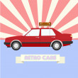 Royalty-Free Stock Vector Image: Retro car