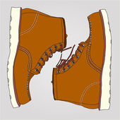 Working boots pair — Stock Vector