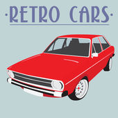 Retro car illustration — Stock Vector
