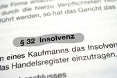 Insolvency — Foto Stock