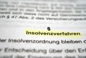 Insolvency Proceedings — Stock Photo