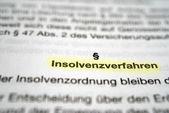 Insolvency Proceedings — Stock Photo