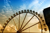 Ferris wheel in Hamburg — Stock Photo