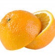 Halves of orange — Stock Photo