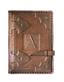 Leather cover of the diary — Stock Photo
