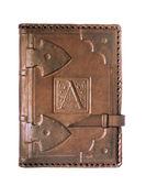 皮革封面的日记 — 图库照片