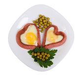 Festive breakfast for lovers — Stock Photo