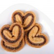 Cookie hearts on a plate — Stock Photo