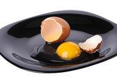 Cracked egg — Stock Photo