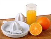 Citrus squeezers and oranges — Stock Photo